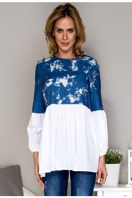 Modrá dámska tunika