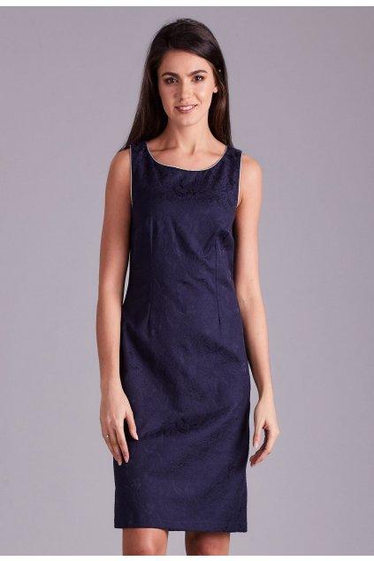 Modré dámske spoločenské šaty