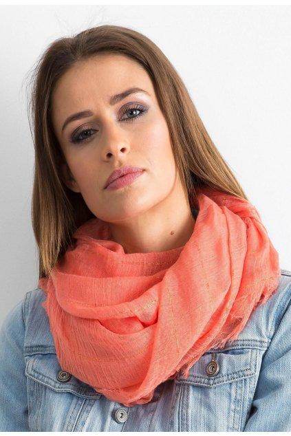 Oranžová dámska šatka
