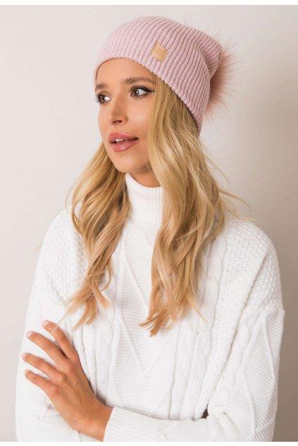 Ružová dámska čiapka