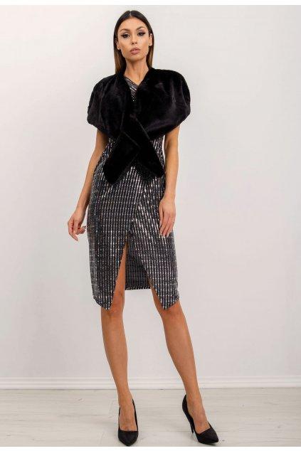 Čierne dámske koktejlové šaty