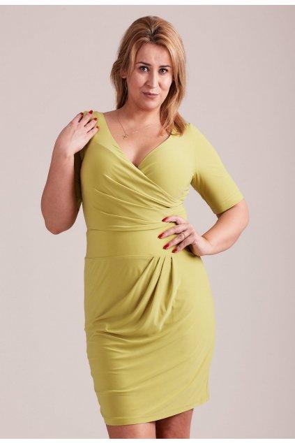 Zelené dámske koktejlové šaty