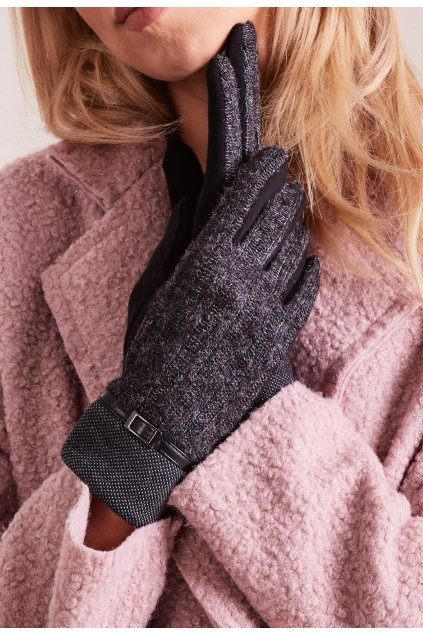 Čierne dámske rukavice