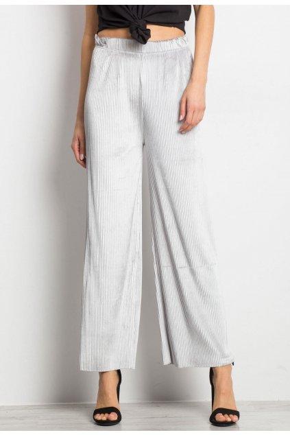 Šedé dámske nohavice