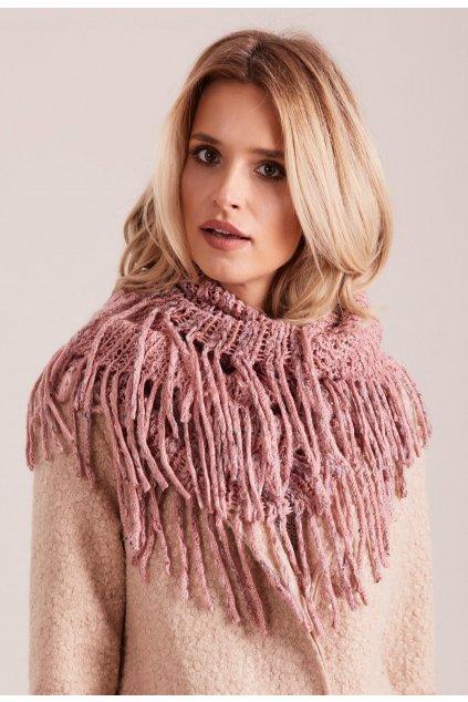 Ružový dámsky šál