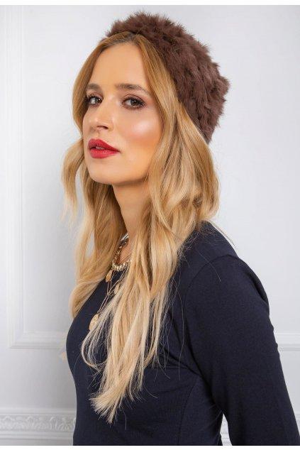 Hnedá dámska čiapka