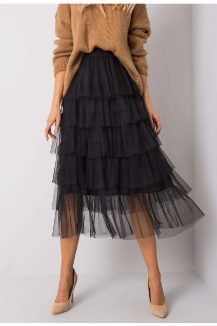 Čierna dámska sukňa