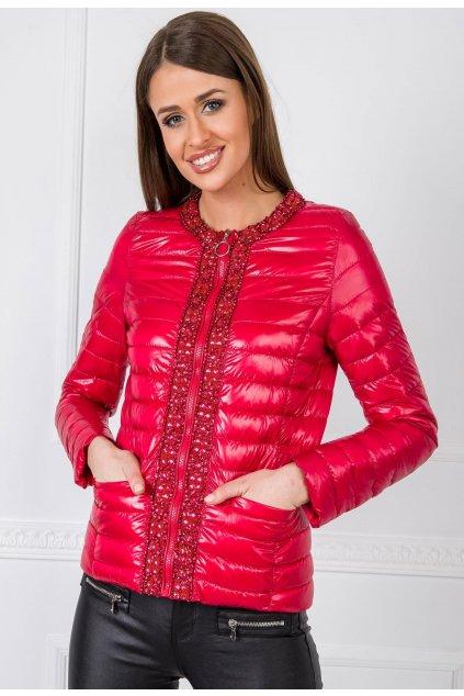 Ružová dámska prechodná bunda