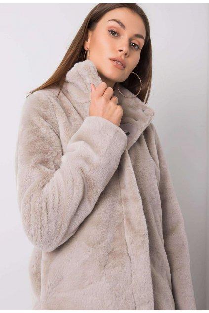 Béžová dámska zimná bunda