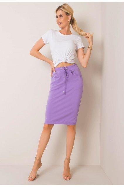 Fialová dámska pletená sukňa