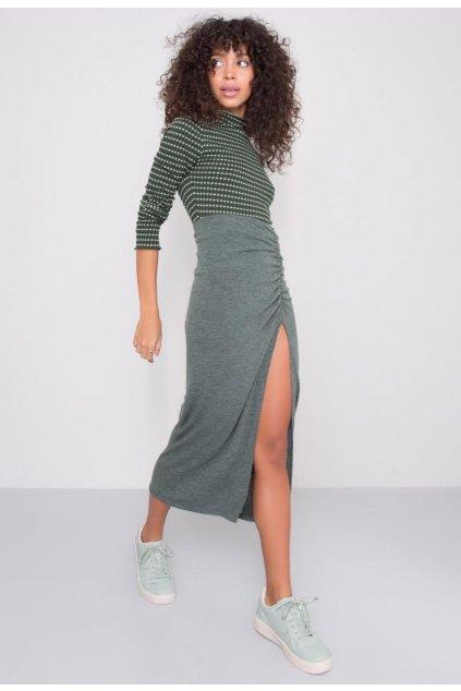 Zelená dámska puzdrová sukňa