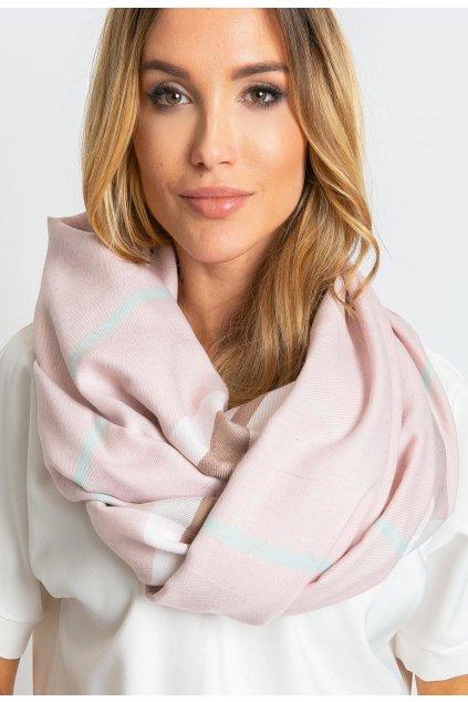 Ružová dámska šatka