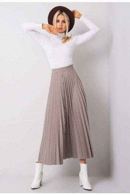 Hnedá dámska plisovaná sukňa