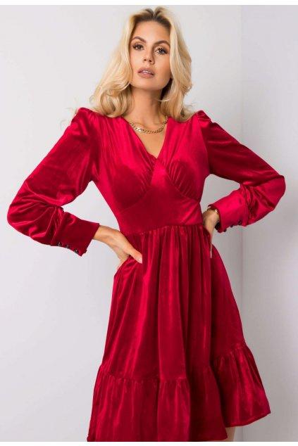 Bordové dámske šaty
