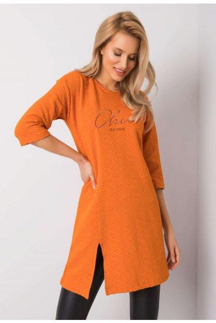 Oranžová dámska tunika