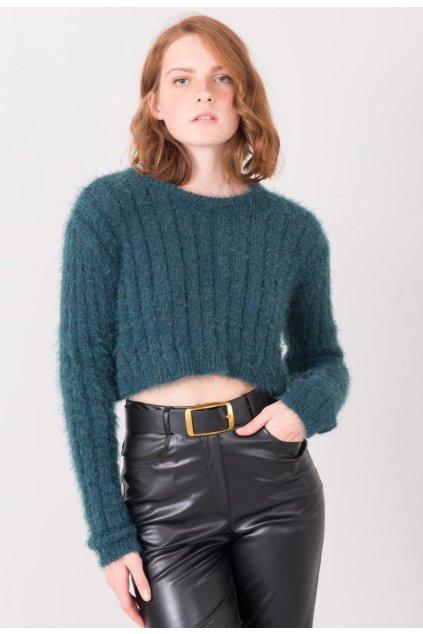 Zelený dámsky sveter