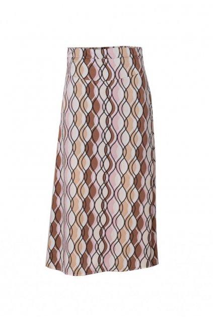 Béžová dámska sukňa do áčka
