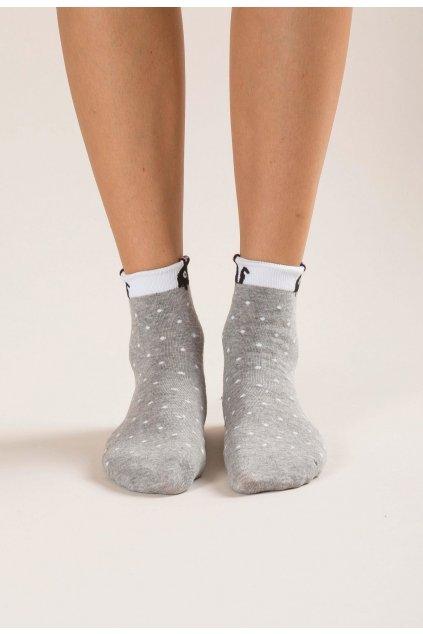 Šedé dámske ponožky