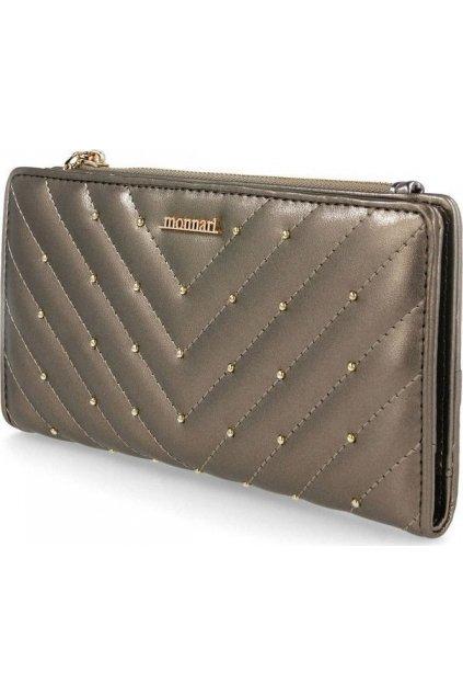 Šedá dámska peňaženka