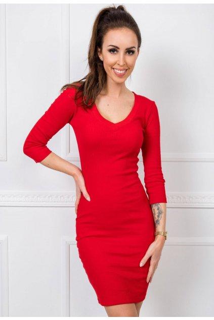 Červené dámske šaty