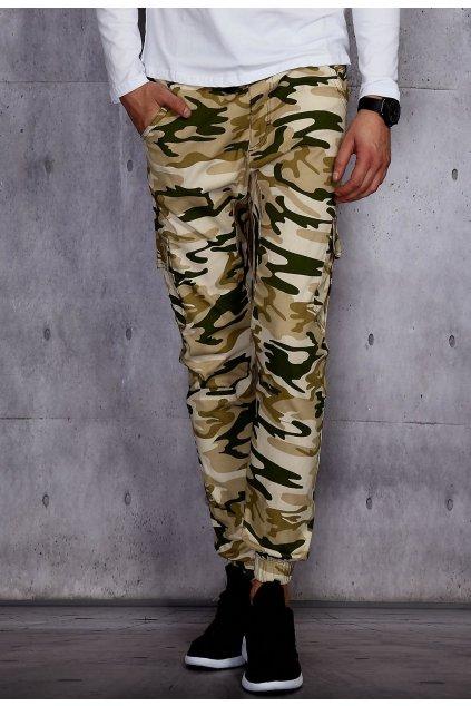 Béžové pánske nohavice