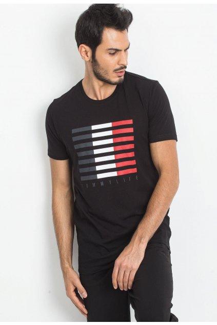 Čierne pánske tričko