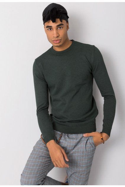 Khaki pánsky sveter