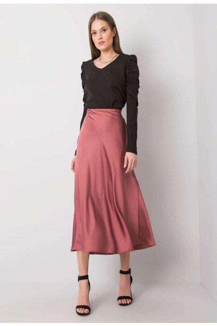 Ružová dámska sukňa do áčka