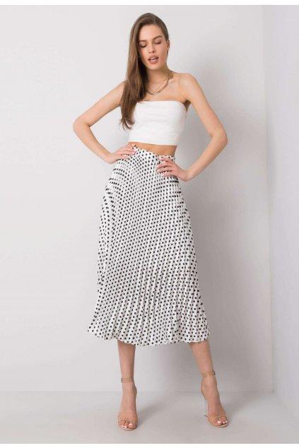 Biela dámska plisovaná sukňa
