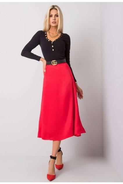 Červená dámska sukňa do áčka
