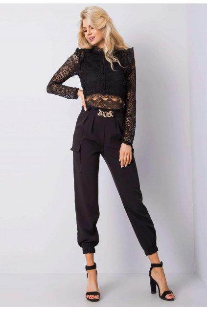 Čierne dámske nohavice