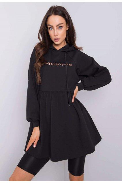 Čierna dámska tunika