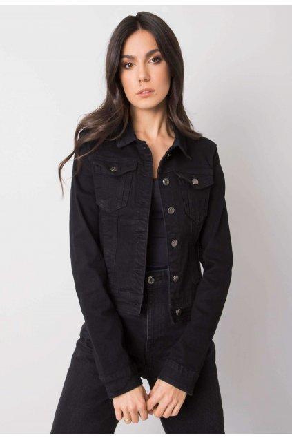 Čierna dámska riflová bunda