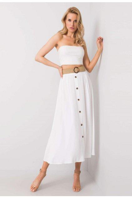 Biela dámska sukňa do áčka