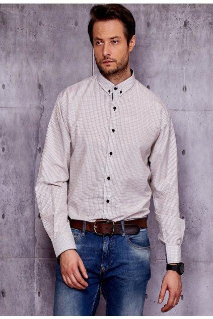 Béžová pánska košeľa