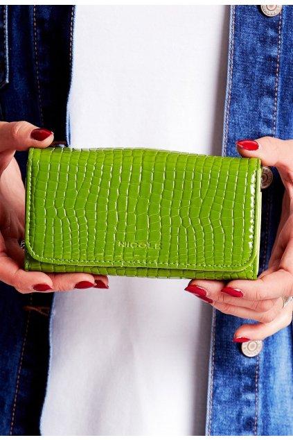Zelená dámska peňaženka