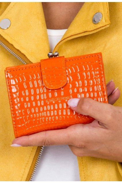 Oranžová dámska peňaženka
