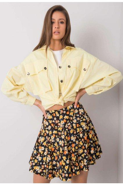 Žltá dámska košeľa