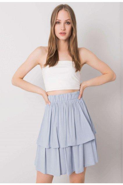 Modrá dámska sukňa