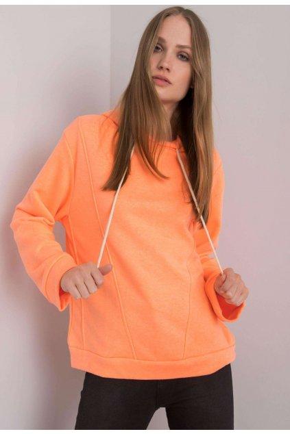 Oranžová dámska mikina s kapucňou