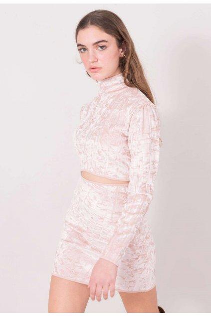 Ružová dámska puzdrová sukňa
