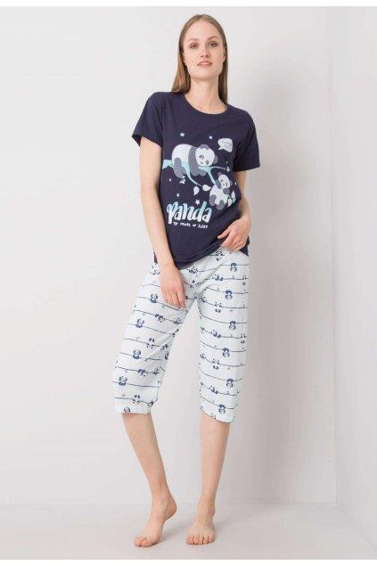 Modré dámske nočné prádlo