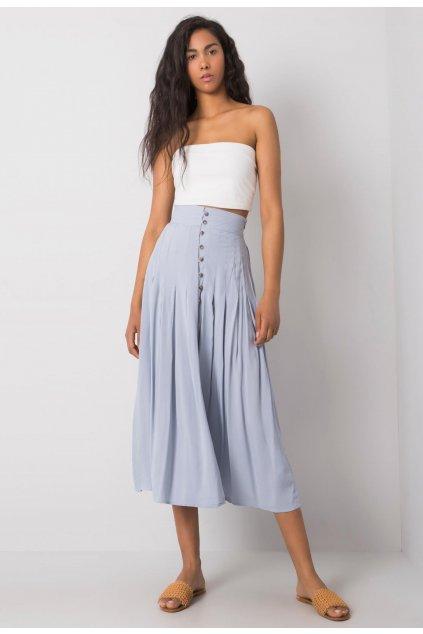 Modrá dámska puzdrová sukňa