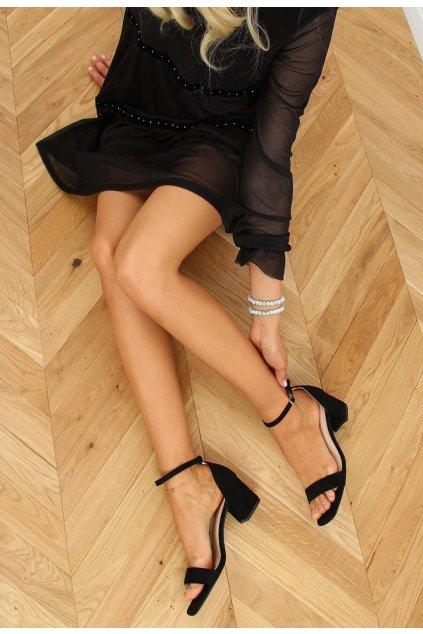 Čierne dámske lodičky
