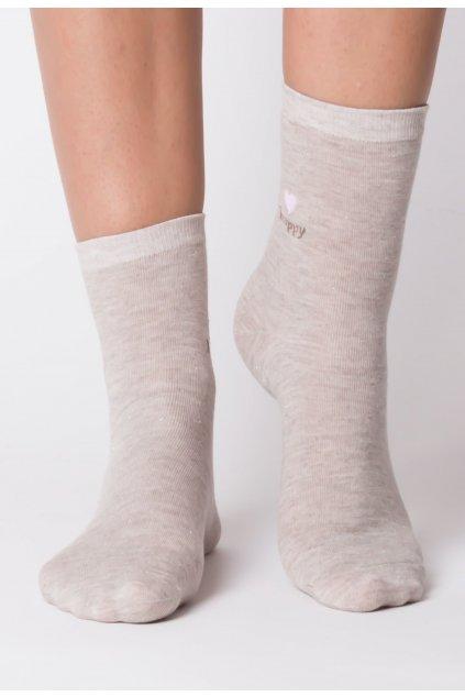 Béžové dámske ponožky