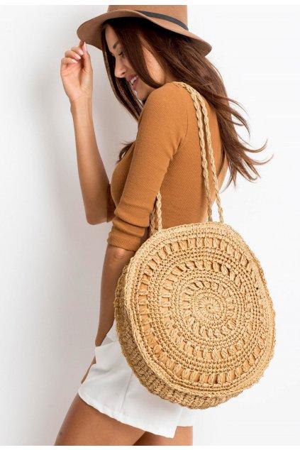Béžová dámska plážová taška