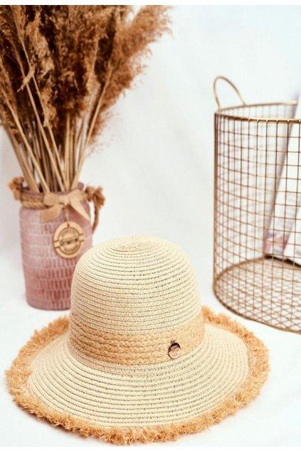 Hnedý dámsky klobúk