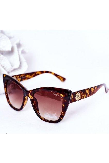 Hnedé dámske slnečné okuliare
