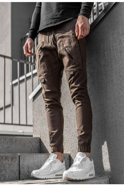 Hnedé pánske nohavice