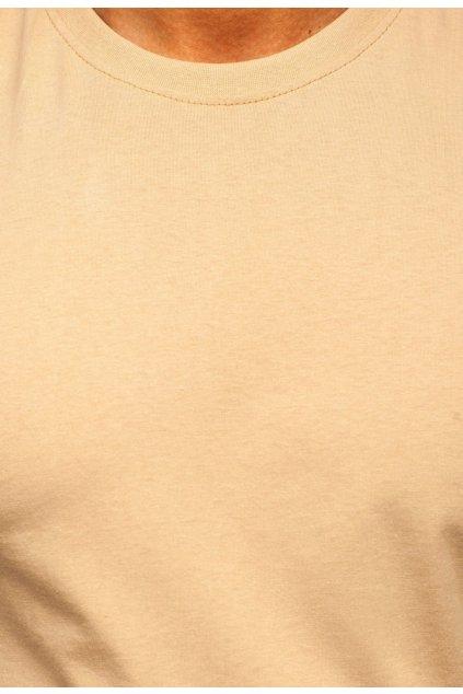 Béžové pánske tričko